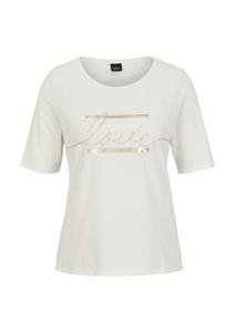 Damen Jerseyshirt mit Statement-Print