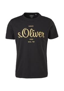 Herren Jerseyshirt mit Label-Print