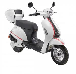 LuXXon E-Roller E3000 25 km/h (Mofa-Klasse), weiß