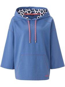 Sweatshirt 3/4-Raglanarm MYBC blau Größe: 38