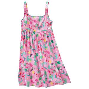 Mädchen Kleid mit tropischem Allover-Print
