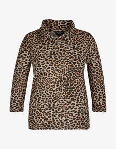 Bexleys woman - Shirt im Animalprint mit Rollkragen
