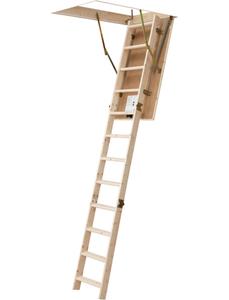 Bodentreppe »DOLLE pur«, max. Raumhöhe 285 cm, Fichtenholz, U-Wert 1,6 W/(m²K)