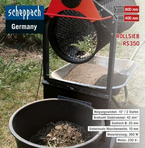Scheppach Garten-Rollsieb RS350
