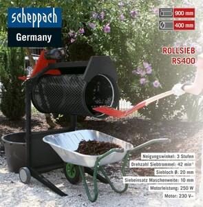 Scheppach Garten Rollsieb RS400