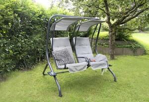 bellavista - Home & Garden® Hollywoodschaukel 2-Sitzer mit Kissen grau/anthrazit