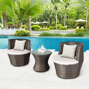 HappyHome Garten-Lounge Set HGE31-SCH