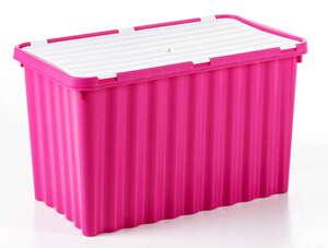 Toptex Wellenbox mit Klappdeckel - Pink/Weiß