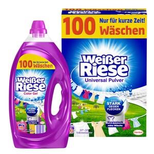 Weißer Riese Waschmittel 100 Waschladungen, versch. Sorten, jede Packung
