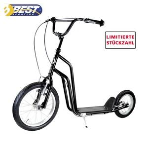 Ballonroller • Vorderrad 16 Zoll • Hinterrad 12 Zoll • Stahlrahmen • Vorder- und Hinterradbremse • max. Nutzergewicht: 100 kg • Maße: ca. H 93 x L 132 cm