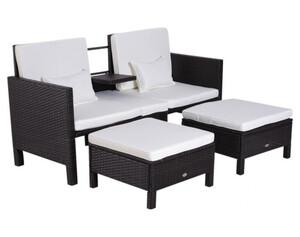 Outsunny Lounge-Set 3-tlg.