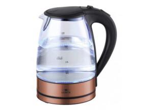 Lentz Wasserkocher Glas 74127 1,7 Liter kupferfarbig
