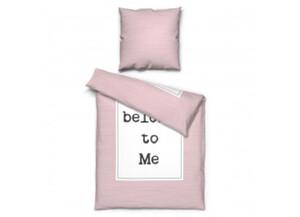 Microfaser Bettwäsche You belong to me rosa 135 x 200 cm