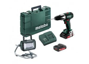 Metabo Akku Set SB18 LT Compact + BSA 14.4-18 LED Strahler + 2x 18Volt 2.0Ah Akkus + Ladegerät + Koffer