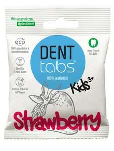 DENTTABS Kids Strawberry Zahnputztabletten - ohne Fluorid ab 3 Jahre