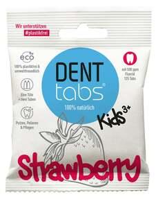 DENTTABS Kids Strawberry Zahnputztabletten - mit Fluorid ab 3 Jahre