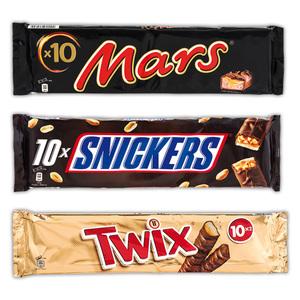 Twix/Mars/Snickers Schokoriegel 10er