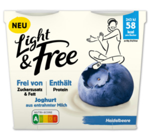 DANONE Light&Free oder Activia