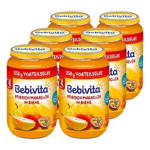Bebivita Pfirsich mit Maracuja in Apfel ab 6. Monat 250 g, 6er Pack