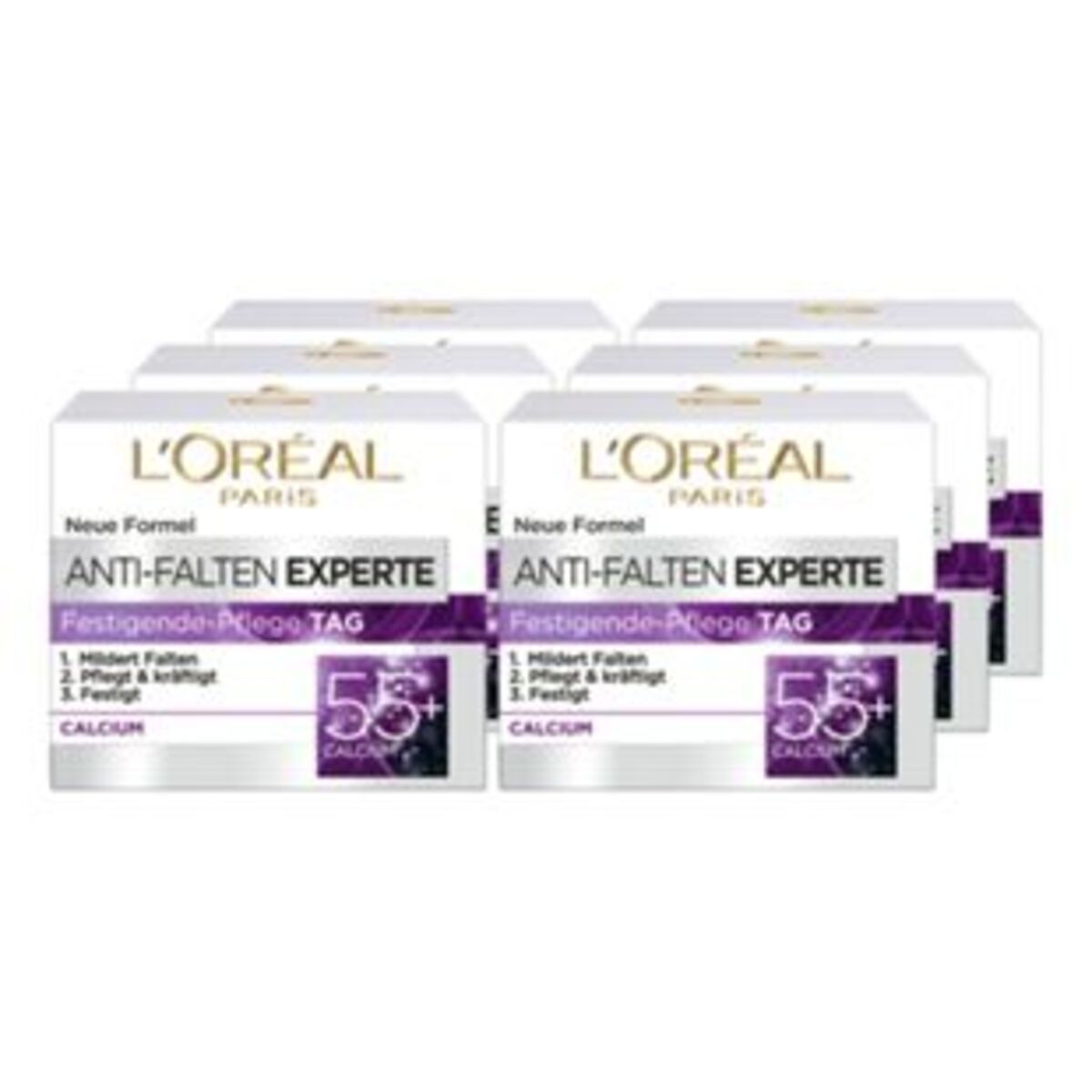 Bild 2 von L'Oreal Expert Tagescreme 55+ 50 ml, 6er Pack