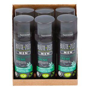 BLÜTE-ZEIT Men Feuchtigkeitscreme mit Sandelholz & BIO-Grüner Tee 50 ml, 6er Pack