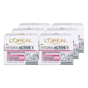 L'Oreal Hydra Active 3 Tagescreme 50 ml, 6er Pack