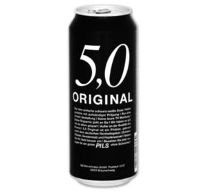 5,0 ORIGINAL Pils, Export oder Cola-Orange Mix