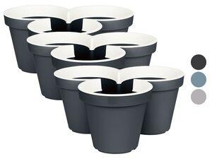PARKSIDE® Pflanztopf, 3 Stück, stapelbar, aus Kunststoff