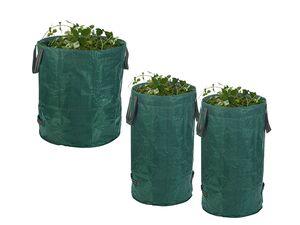 PARKSIDE® Gartensack 3er Set mit Tragegriffen