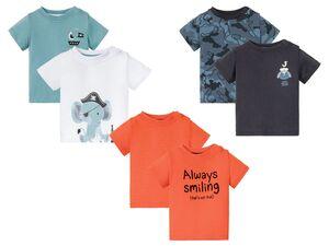 LUPILU® Baby T-Shirts Jungen, 2 Stück, reine Baumwolle