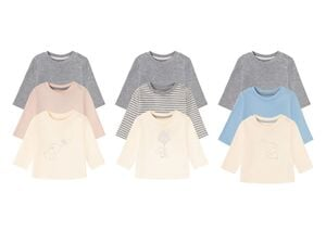 LUPILU® 3 Baby Langarmshirts, mit Bio-Baumwolle