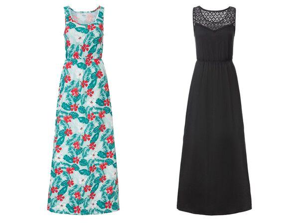 ESMARA® Kleid Damen, mit Seitenschlitzen, Gummizug