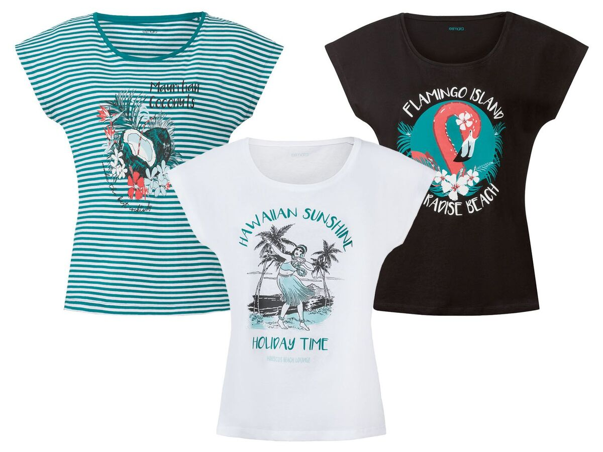 Bild 1 von ESMARA® T-Shirt Damen, aus reiner Baumwolle