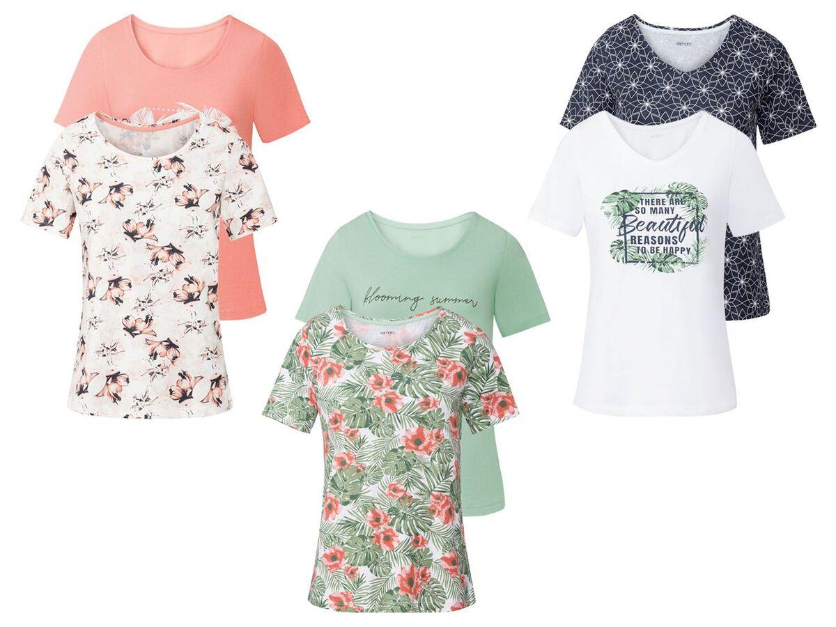 Bild 1 von ESMARA® T-Shirts Damen, 2 Stück, mit Print