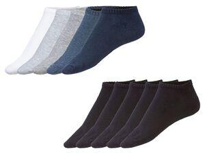 LIVERGY® Sneakersocken Herren, 5 Paar, mit Bio-Baumwolle