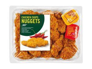 Chicken Chips Nuggets mit Dip