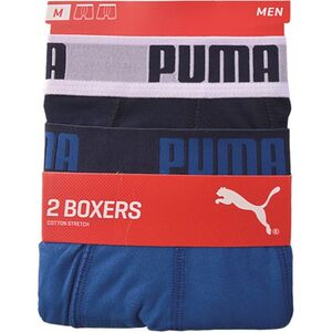 Puma Herren Retroshorts, 2er Pack, Farbe 420 true blue, Gr. L
