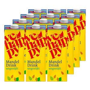vehappy Mandeldrink ungesüßt 1 Liter, 12er Pack