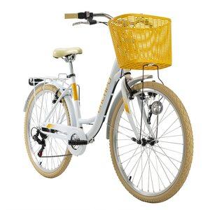 KS Cycling Cityrad 6-Gänge Cantaloupe 26 Zoll weiß für Damen