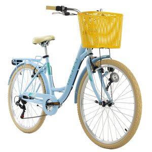 KS Cycling Cityrad 6-Gänge Cantaloupe 26 Zoll für Damen, Größe: 48, Blau