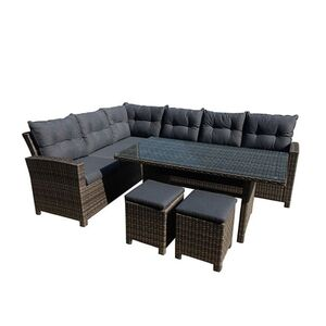 Greemotion Lounge Set Tessin,Alu,PE-Geflecht,5-tlg