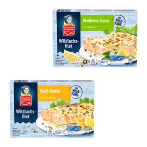 GOLDEN SEAFOOD Wildlachsfilet in Sauce