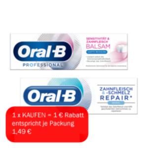 Oral-B Zahnfleisch&Schmelz /Sensitivität&Zahnfleisch Zahncreme