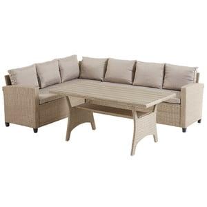 Eck-Sofa-Set ULLEHUSE (6 Personen, natur, mit Auflagen)