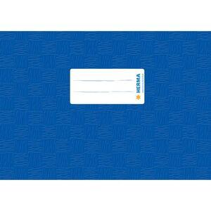 Heftschoner A5 Querformat - blau