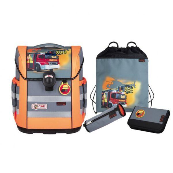 McNeill - ERGO MAC DIN - Schulranzen Set - Feuerwehr - orange