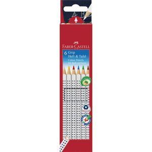 Faber-Castell - 6 Buntstifte GRIP Heft+Tafel