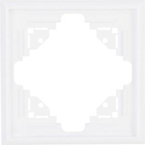 Kopp Abdeckrahmen 1-fach MALTA ,  arktisweiß