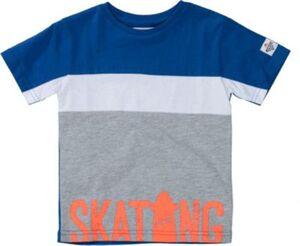 T-Shirt  blau-kombi Gr. 104/110 Jungen Kleinkinder