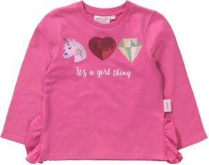 emoji Sweatshirt mit Volants  pink Gr. 116/122 Mädchen Kinder